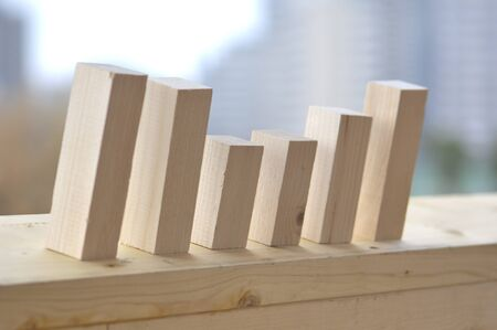 Bar chart with the building blocks