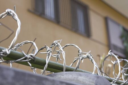 Crime prevention for the barbed wire on the fence