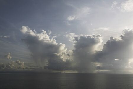 Malacca Strait early morning of sea cumulonimbus