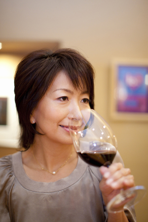 Women who drank red wine