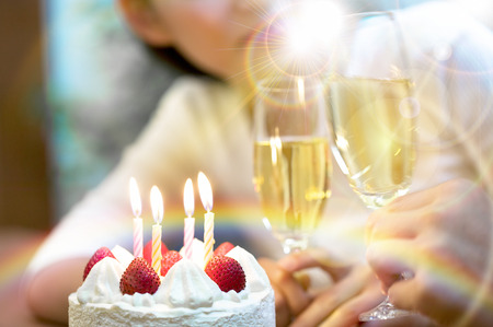 Couples celebrate a birthday