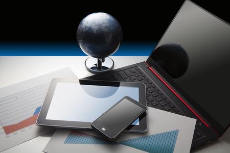 Smartphones and globes
