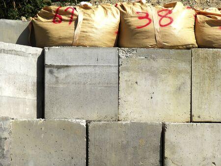 Of concrete block defense wall