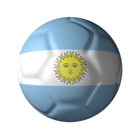 Argentina Le of soccer ball-shaped national flag