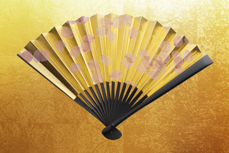 Golden fan and cherry
