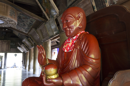 Hase-dera Temple main hall of Binzuru Venerable Binzuru Venerable