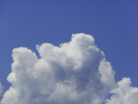 Cumulonimbus cloud and blue sky
