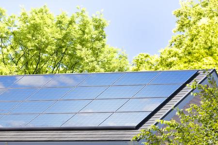 Residential roof solar panels