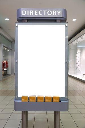 Large blank, empty, white billboard screen, for your advertisement and design