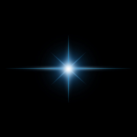 Illustration pour Star burst  light beam vector - image libre de droit