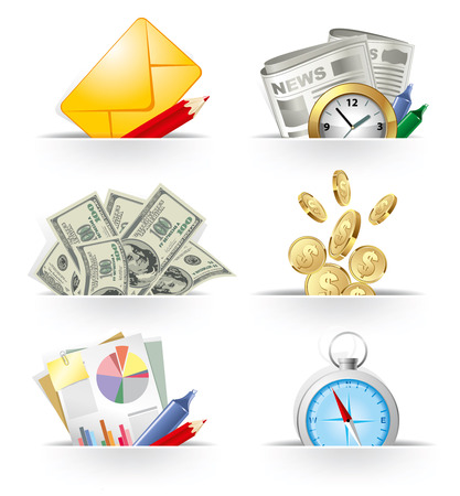 Business and banking icon set