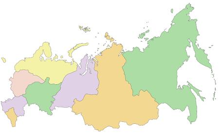Illustration pour Russia - Highly detailed editable political map. - image libre de droit