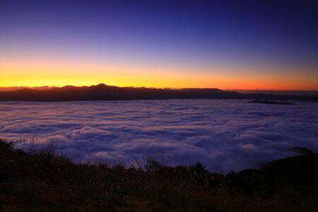 Photo pour Unkai from Takashimizu Observatory, Tono City, Iwate Prefecture - image libre de droit