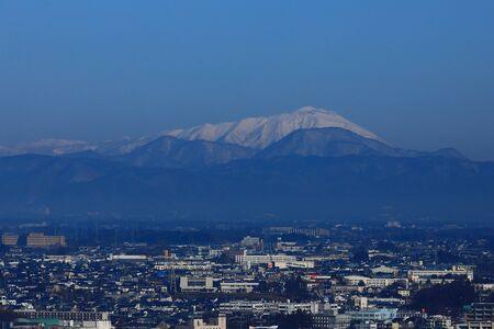 Photo pour Blue sky and The Owa Mountains - image libre de droit