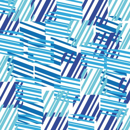 Illustration for Abstract background made from blue colored rectangles  - Royalty Free Image