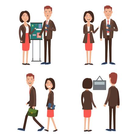 Business team at work character set  Teamwork, colleague