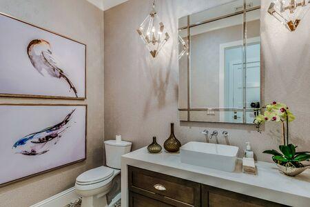 Foto de Glamorous yet simple guest bathroom - Imagen libre de derechos