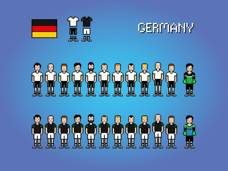 Germany Football Soccer Player Uniform Pixel Art Game