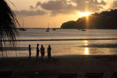 sunset at the beach in San Juan Del Sur, Nicaragua