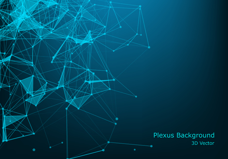 Illustration pour Abstract polygonal space low poly dark background with connecting dots and lines. Connection structure. Futuristic polygonal background. Triangular business wallpaper. - image libre de droit