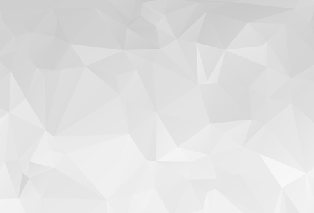 Foto de Gray White geometric rumpled triangular low poly origami style gradient illustration graphic background. Vector polygonal design for your business. - Imagen libre de derechos