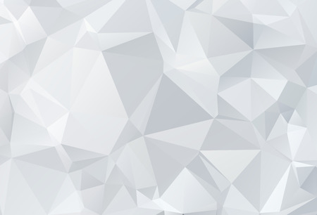 Photo pour Gray White geometric rumpled triangular low poly origami style gradient illustration graphic background. Vector polygonal design for your business. - image libre de droit