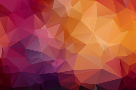 Illustration pour Dark Red geometric rumpled triangular low poly origami style gradient illustration graphic background. Vector polygonal design for your business. - image libre de droit