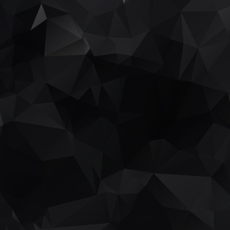 Illustration for Black polygonal illustration, which consist of triangles. Geometric background in Origami style with gradient. Triangular design for your business. - Royalty Free Image