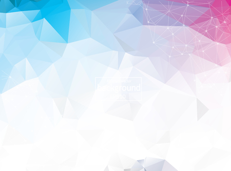 Illustration pour Abstract triangular blue background with polygonal abstract shapes - image libre de droit