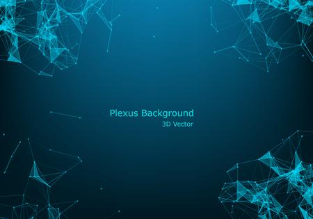 Vektor für Abstract vector particles and lines. Plexus effect. Futuristic illustration. Polygonal Cyber Structure. Data Connection Concept. - Lizenzfreies Bild