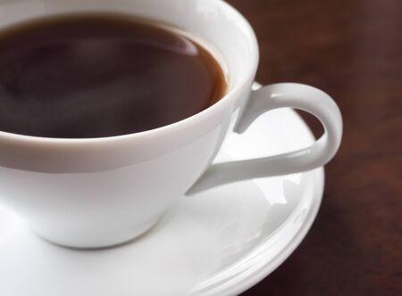 Photo pour A cup of hot americano coffee or hot espresso coffee - image libre de droit