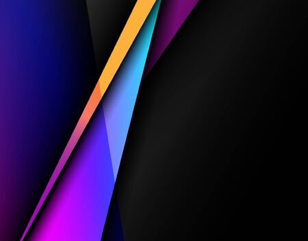 Illustration for Abstract image of color contrasting with black background. Vector - Royalty Free Image