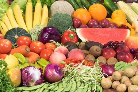 Foto de Fresh fruits ad vegetables for healthy - Imagen libre de derechos