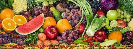 Foto für Group of fresh fruits and vegetables organics - Lizenzfreies Bild
