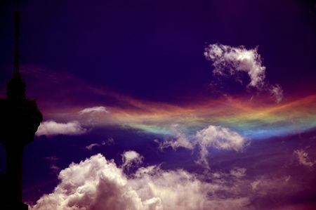 A magical weave of colors in the sky