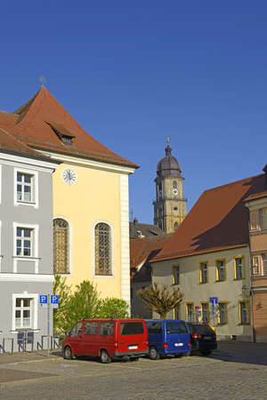 Photo pour Street view of Amberg, a old medieval town in Bavaria, Germany. - image libre de droit