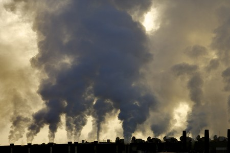 view of the smoke produced by a polluting industry