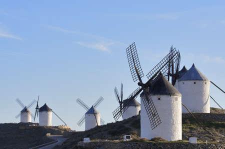 windmills in Consuegra, Toledo, Castilla La Mancha, spain