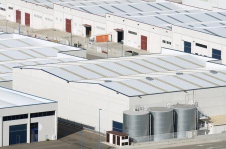 View  of Centrovia industrial zone, La Muela, Saragossa province, Aragon, Spain
