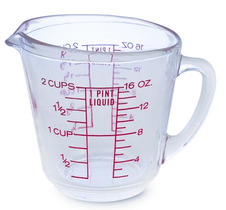 Photo pour Empty measuring glass cup 1 Pint liquid on white background - image libre de droit