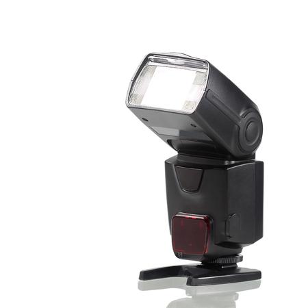 Photo camera flash isolated on white background