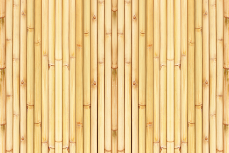 Photo pour Old bamboo fence background; Old natural bamboo fence texture background - image libre de droit