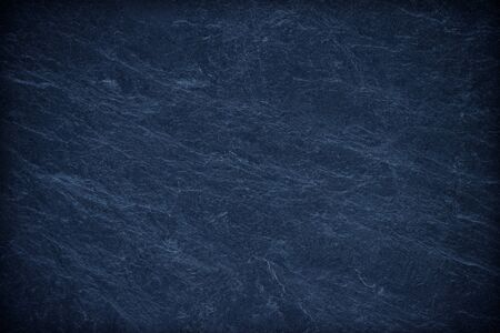 Foto de Blue texture dark slate background. Stone surface background - Imagen libre de derechos