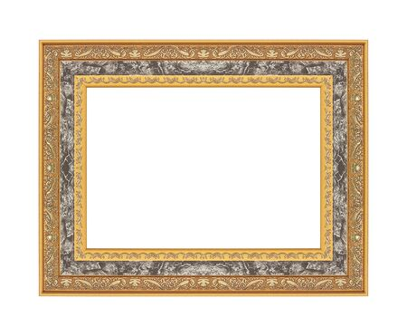 Foto de Golden frame isolated on white background - Imagen libre de derechos