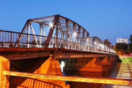 Iron bridge,Chiang-Mai,Thailand
