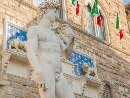 Michelangelo39s David in the Piazza della Signoria in Florence Tuscany Italy Michelangelo