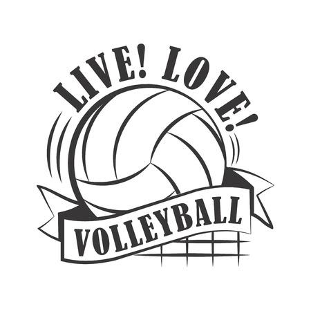 Ilustración de Yellow volleyball emblem - Imagen libre de derechos