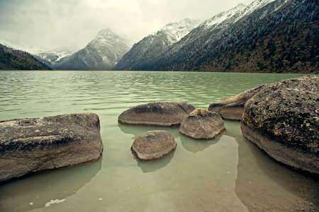 China's Sichuan province, highland lakes, MANI rubble