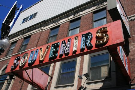 Souvenir store sign