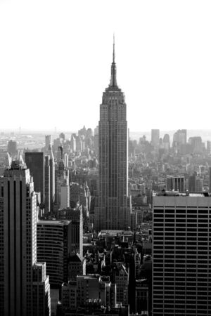 Manhattan skyline and the Empire State Building.
